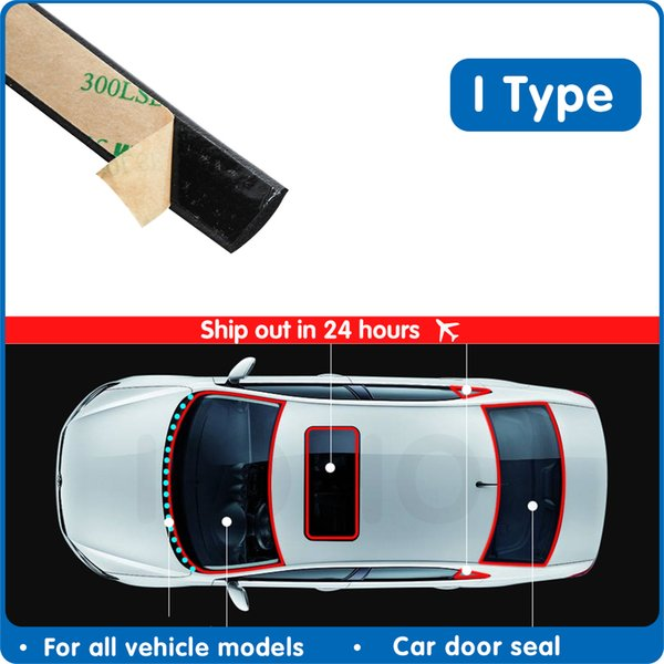 Fillers car door seal window sealing strip soundproof front and rear windshield roof water-proof rubber strip rainproof sunroof
