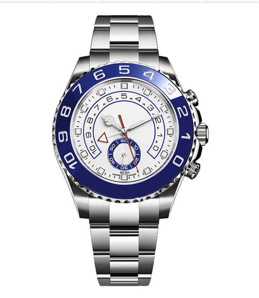 best selling Men's watch master wholesale and retail, stainless steel case, folding buckle, ceramic beacons, sapphire glass, four needle timing, double