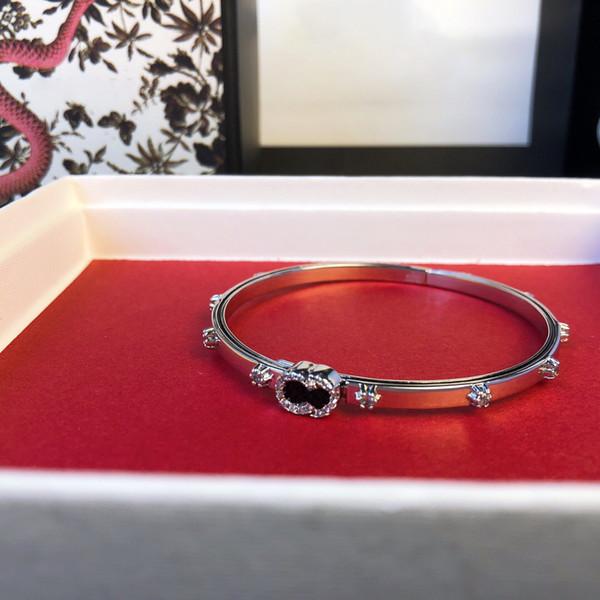 best selling Bracelets for Women 316L Stainless Steel Jewelry Lock V Bracelets Bangles Pulseiras Leather Jewelry bracelet silver