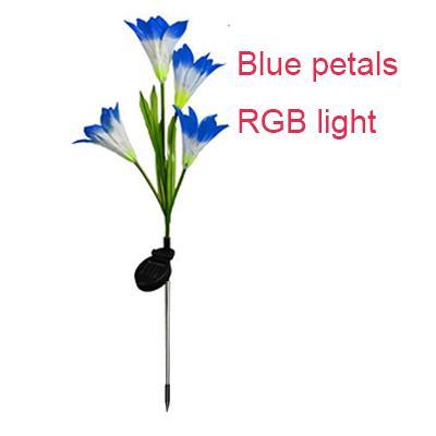 Blaue Blütenblätter mit RGB-Licht