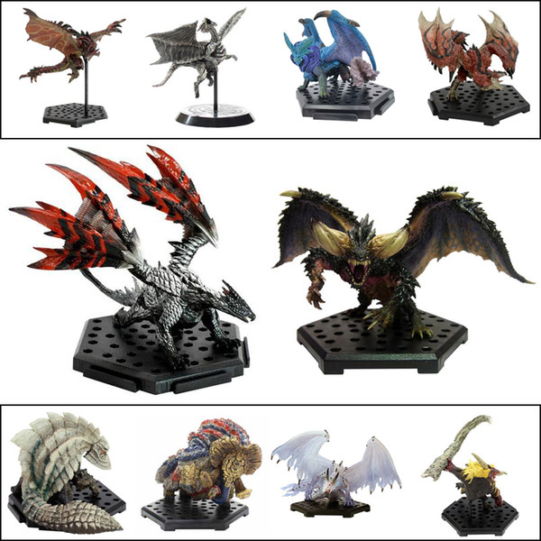 top popular Monster Hunter World PS4 GAME Limited PVC Models Dragon Action Figure Japanese Genuine Kids Toy Gifts X0121 2021