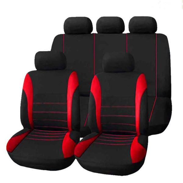 Cinq sièges rouge