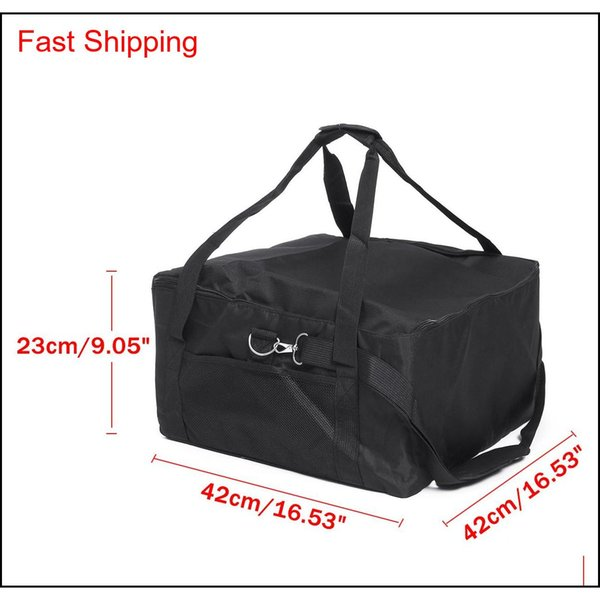 top popular 16 Inch Portable Insulated Thermal Food Pizza Delivery Bag 42x42x23cm Insulated Picnic Lunch Box Ice Pack Vehicl qylzcv bdetoys 2021