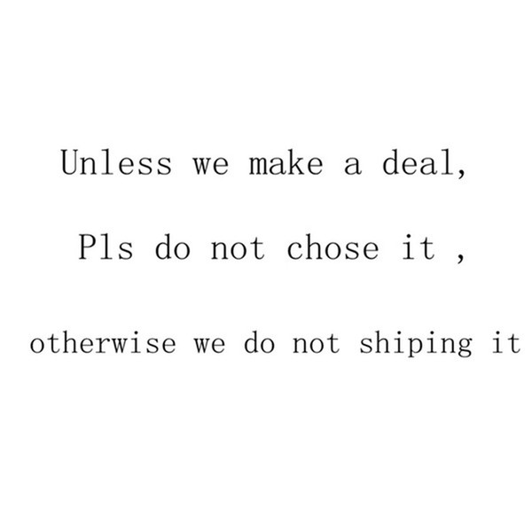 Please do not choose, (not shipped)