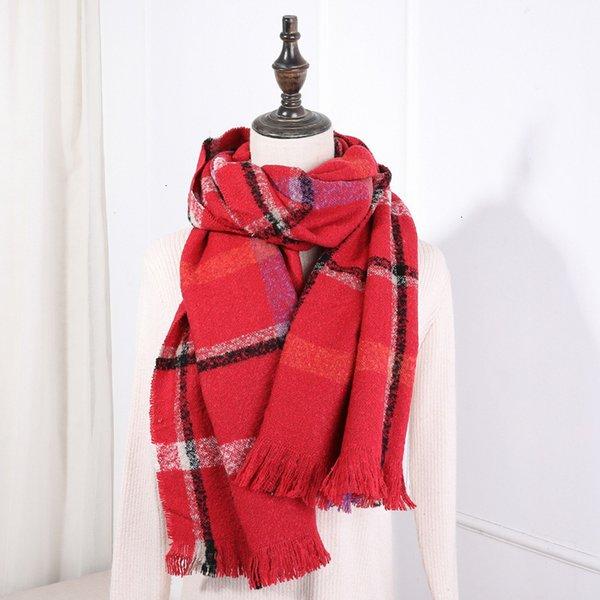 16 красных плед круг шарф