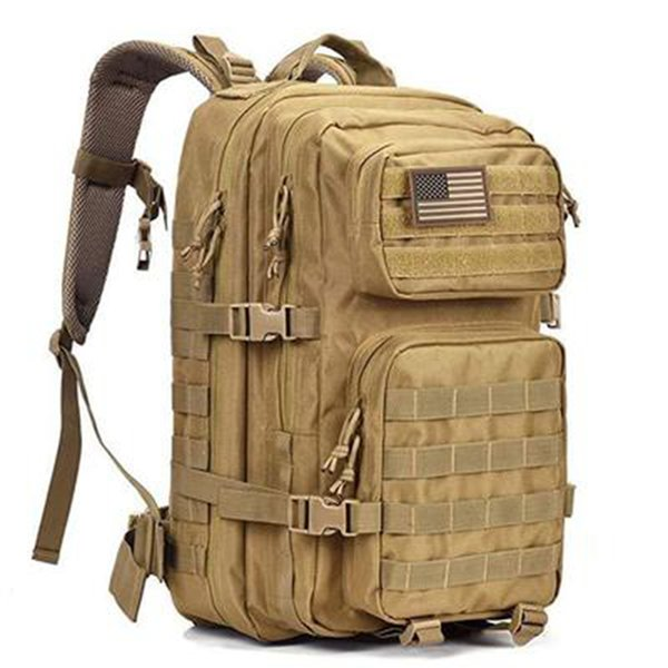 top popular 50L Large Capacity Man Tactical Backpacks Military Bags Waterproof Outdoor Sport Hiking Camping Bag Rucksack 201118 2021