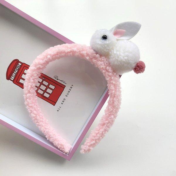 Beyaz Tavşan - Pembe Bant