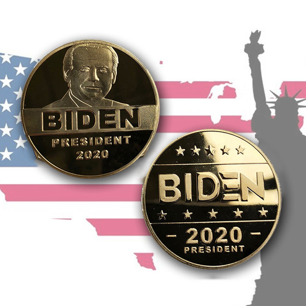 best selling 2020 President Biden Commemorative Coin Biden Gold Plated Commemorative Coin Metal Badge Metal Commemorative Coin Wholesale