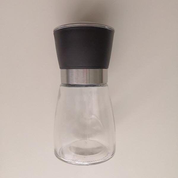top popular Glass Pepper Mills for Seasoning Colorful Pepper Grinder Salt Muller Pepper Grinder Bottle for Sesame Power 2021