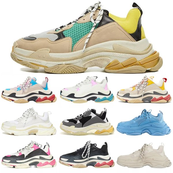 top popular 2021 designer Direct Paris Triple-S Casual dad shoes mens womens Track Triple s Black White Gym Red Grey Platform Lovers trainer sneakers 2021
