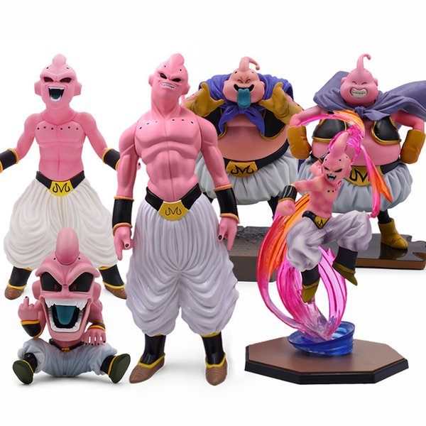 top popular 6 Style 12-44cm ZERO Majin Buu PVC Action Figures DBZ Super Saiyan Figure PVC Collectible Model Toys 201202 2021