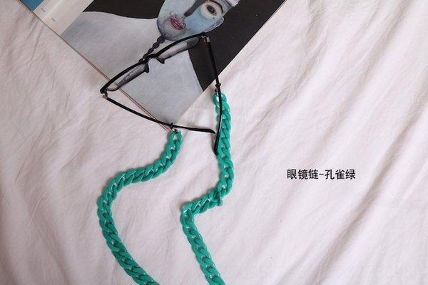 Corrente de óculos - verde pavão