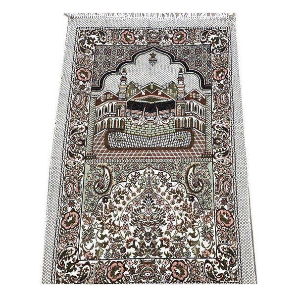 top popular Wholesale 70*110cm Thin Islamic Muslim Prayer Mat Salat Musallah Prayer Rug Tapis Carpet Tapete Banheiro I jllEux warmslove 2021
