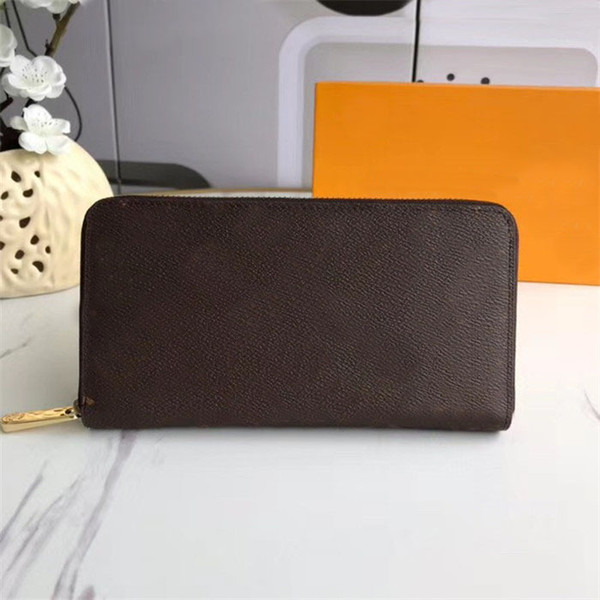 top popular Wholesale Flower symmetrical wallet Fashion Genuine leather wallet purses Women Purse mens wallet portafoglio Free Shipping 2021