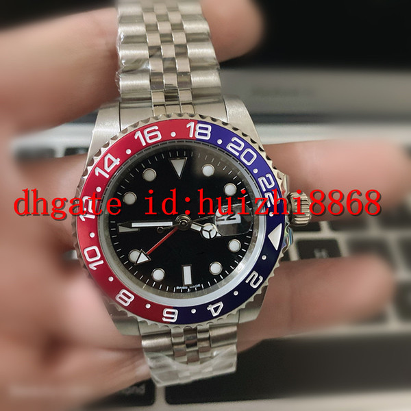 best selling Mens watch Wristwatch Blue Black Ceramic Bezel Stainless Steel Watchc 116710 Automatic GMT Movement Limited Watchh Jubilee watches Master