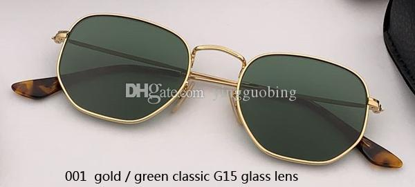 001 gold/green classic G15 lens