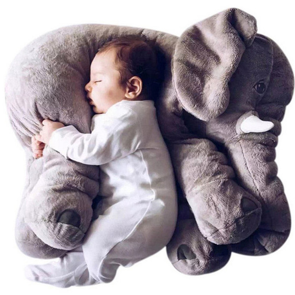 best selling Large Plush Elephant Doll Pillow Baby Accompany Soft Calm Doll Kids Cushion Stuffed Pillow Animal Doll   Children Gift LJ201014