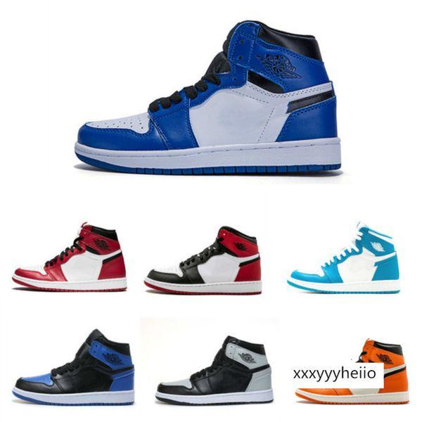 top popular Wholesale 1 High OG Men Basketball Shoes Women Sneakers High Quality White Blue Black Orange UNC 2021