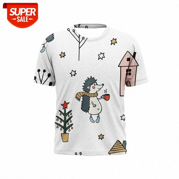 best selling 2021 new 3D printed men's t-shirt Christmas stitching cartoon pattern holiday fashion t-shirts for boys and girls #Zz8D