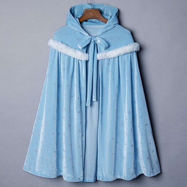 395 Large Fur Collar - Blue