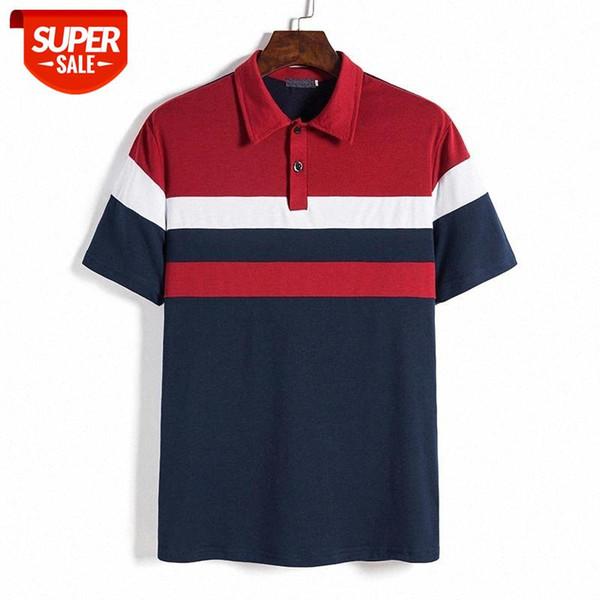best selling Men Short Sleeve T-Shirt Striped Slim t Shirt Clothing Summer Streetwear Casual Fashion Men Tops #EB1A