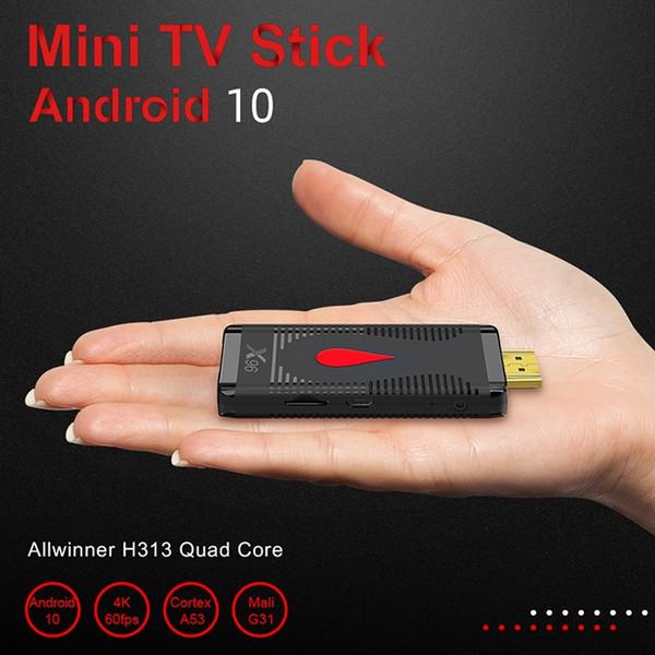 best selling X96 S400 2GB+16GB Android 10.0 TV Box Stick Allwinner H313 Quad Core 4K 60fps 2.4G Wifi