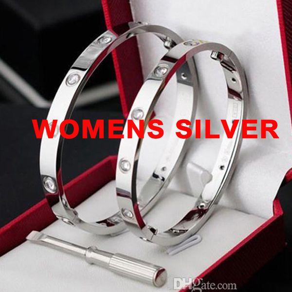 النساء الفضة بالحجارة
