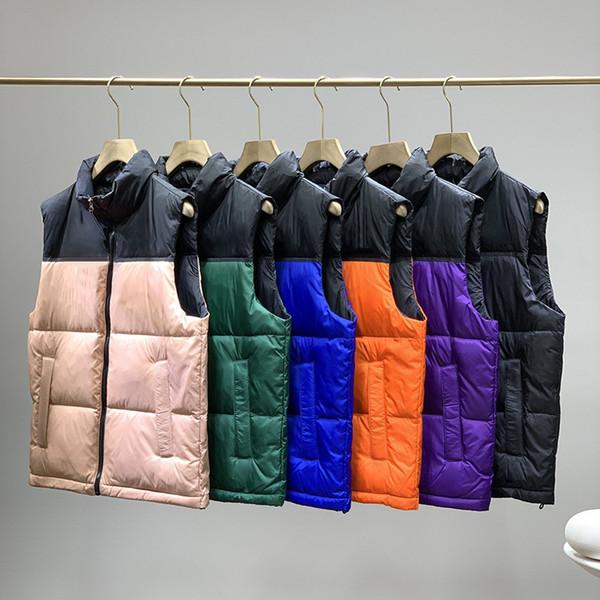 top popular New Fashion Winter Jacket Men Down Vest Couples Down Vest Down jacket Parka Outerwear Multicolor Size S-2XL 2021