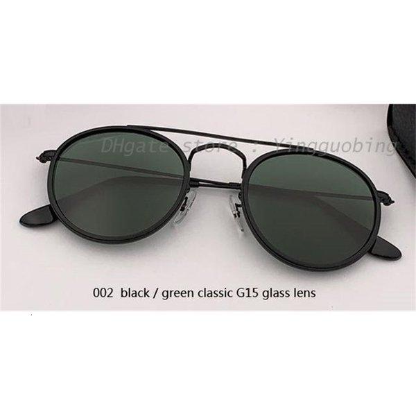 002 preto / verde clássico G15 lente