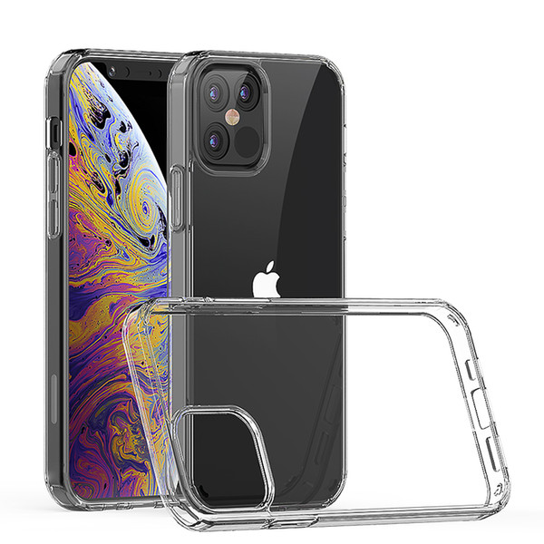 top popular For iphone 12 pro max for iphone 12 mini 5.4 Transparent phone case tpu acrylic clear For samsung Galaxy s20 fe C 2021