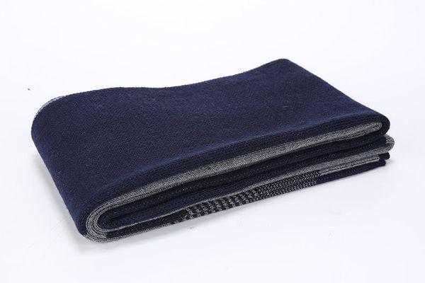 Bleu gris rayé sur les 180cmx30cm