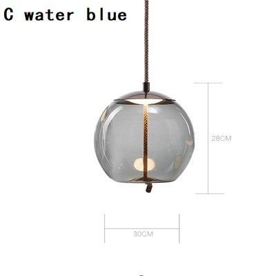 C azul água