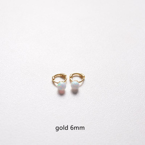 1 Paar Gold 6mm