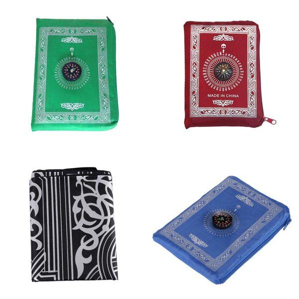 top popular 210D Waterproof Carpets Cloth Blankets Portable Fashion Pocket Prayer Mat Woollen Blanket Ethnic Style 4 4yq J2 2021