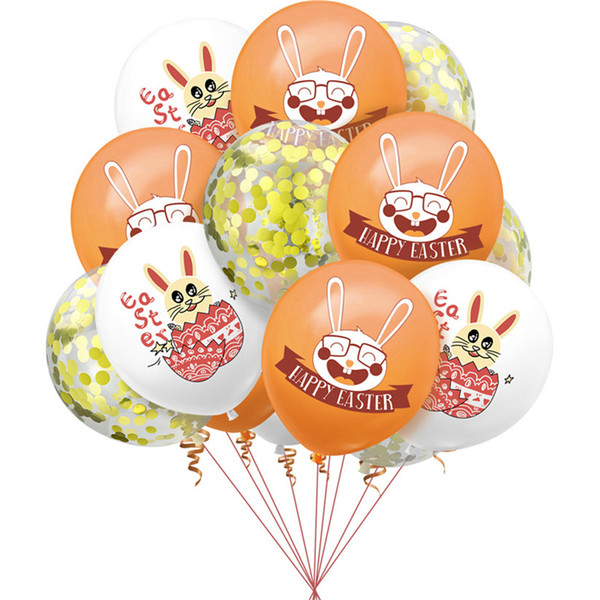 best selling 12 Inch Happy Easter Rabbit Cartoon Printed Latex Balloon Festival Party Valentine's Day Wedding Brithday Lovely Fashion Decoration G10705