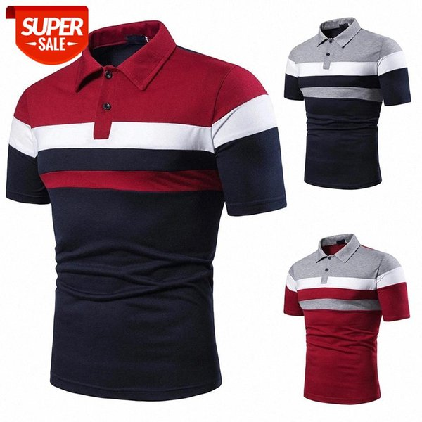 best selling Men T-shirt Men Shirt Short Sleeve T-shirt Shirt Contrast Color New Clothing Summer Streetwear Casual Fashion tops #rG9d