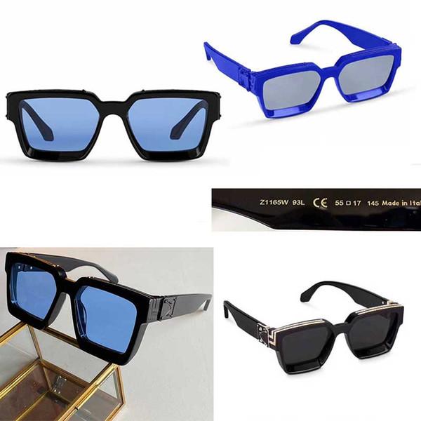 top popular 2020 Official Latest Color 96006 Fashion Sunglasses Millionaire Square Frame Top Quality Continuous Retro Decorative Glasses with box 2021