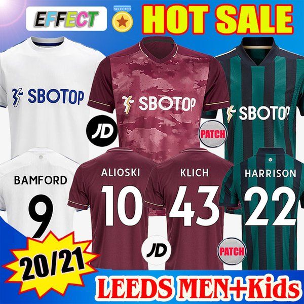 top popular Men + Kids 20 21 Leeds Home Soccer Jerseys United T Roberts 2020 2021 Jersey Harrison Klich Alioski Hernandez BAMFORD Third Football Shirts 2020