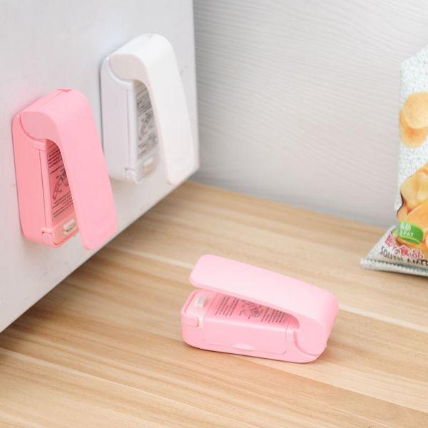 top popular Portable Mini Heat Sealing Machine Household Sealer Seal Packing Plastic Bag Food Saver Storage Kitchen Tools HHA1668 2021