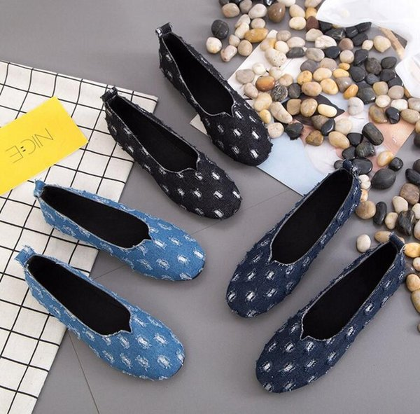 top popular 2020 spring and summer new pedal peas shoes women shallow mouth all-match flat bottom breathable casual single shoes women work shoes 2020