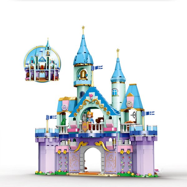 top popular Girl Princess and Prince Castle Wedding Scene Assembly Carriage Assembly legoinglys Building-block Toys Compatible with 2020