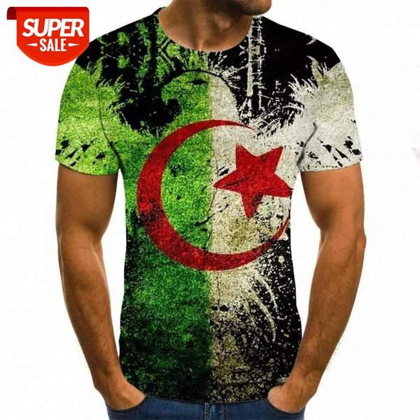 best selling 2020 Man T-shirt 3D flag Printing Polyester Spandex Fabric Casual Cool Men's T-Shirt 2020 New #899z