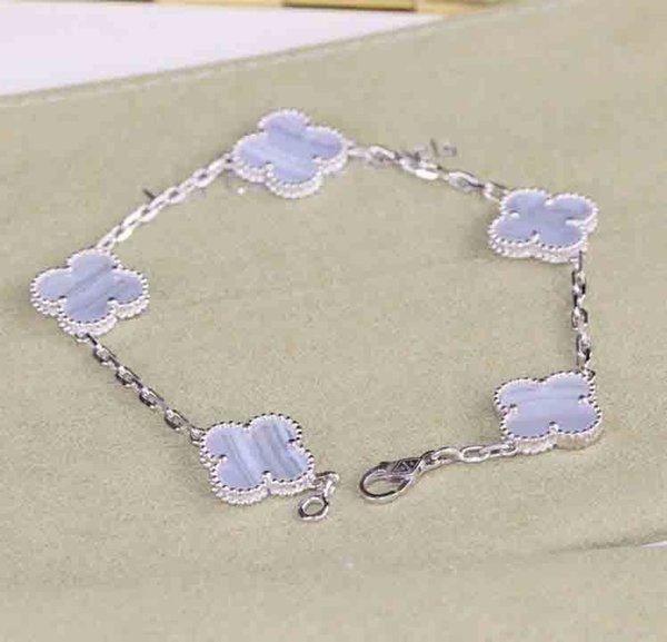 Platin + lila Armband