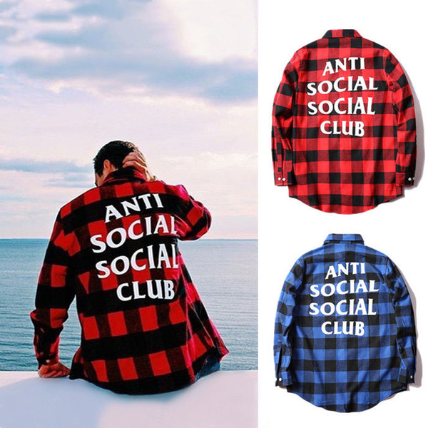 best selling European and American fashion brand plaid cotton casual shirt autumn loose wild men and women couples long sleeve shirt