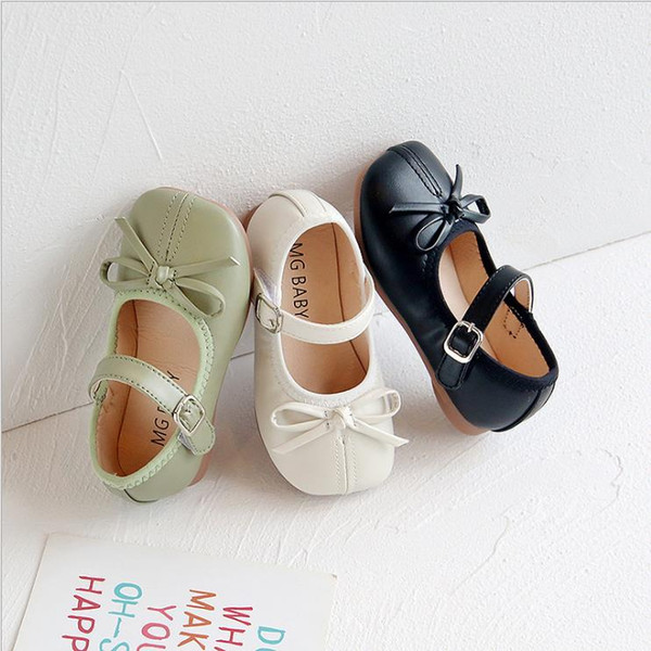 best selling Toddler girl shoes autumn Bow tie Girls Sandals Baotou kids Sweet Princess Shoes baby ballet size 21-30