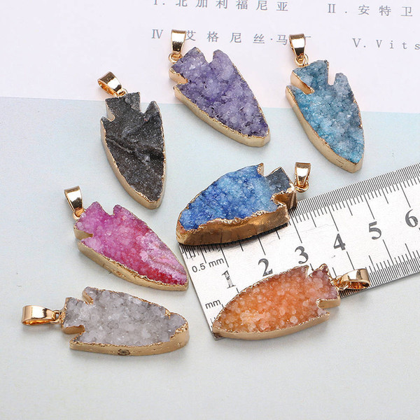 best selling New Natural Crystal Quartz Healing Point Chakra Bead Gemstone Necklace Pendant original natural stone-style making necklaces Accessories