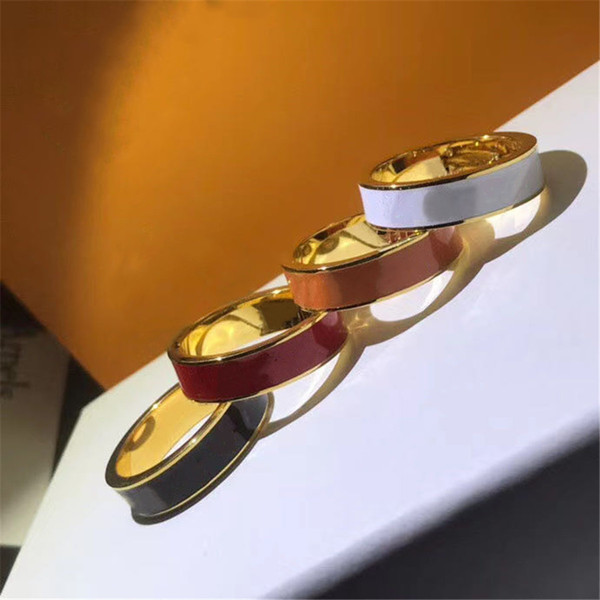 top popular Fashion Designer Ring for Man Women Unisex Rings Luxury Jewelry 4 Color Gifts Fashion Accessories 2021