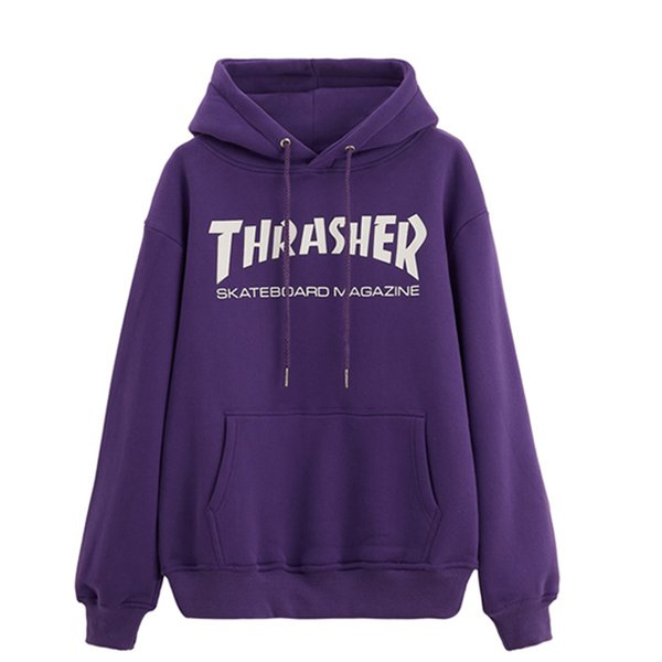 best selling Brand THRASHER Mens Sweater Fashion Men Women High Quality Sweater Pullover Long Sleeve Letter Printed Couple Hooded Sweaters Size M-XXL