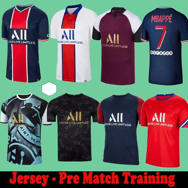 best selling Maillots de football Pre Match Training Florenzi 20 21 soccer jerseys 2020 2021 MBAPPE ICARDI camisetas de futbol shirt VERRATTI sets