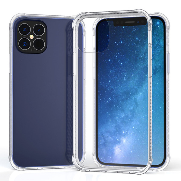 top popular For iPhone 12 11 pro 7 8 6 6S plus Transparent Soft TPU Case back cover case 2021